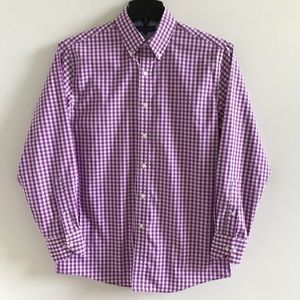 Tommy Hilfiger Button Down Shirt Purple Checked